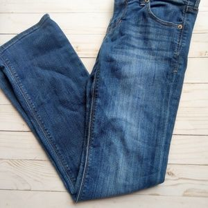 Express jeans 2 short barely bootcut low rise